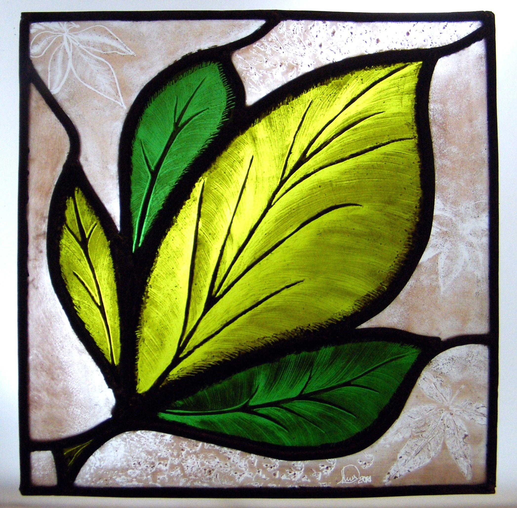 Corso di vetrate artistiche, vetrata artistica a piombo con pittura ...