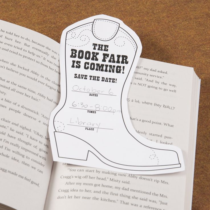 Bootmark. Download this savethedate bookmark from the