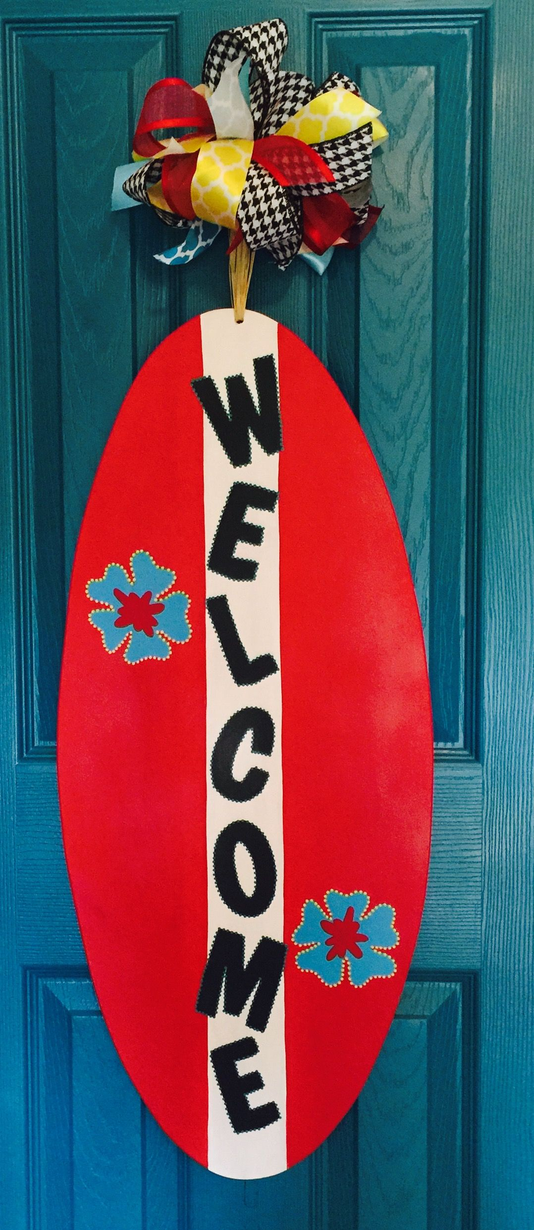 Surf Board Door Decor Hanger 45 Www Facebook Com Adoorit