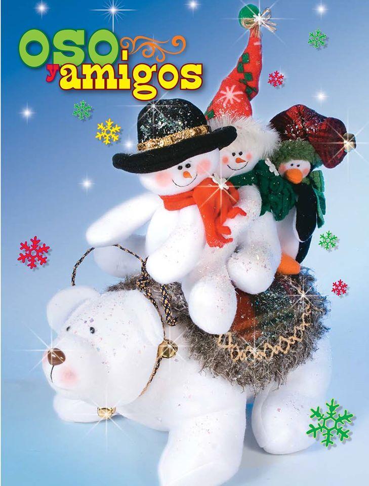 moldes o patrones para elaborar hermosos muecos de navidad en