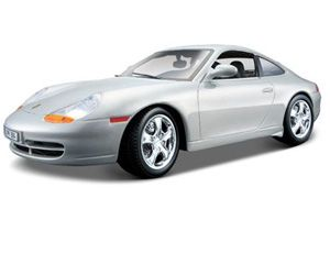 The Burago Porsche 911 Carrera 1997, is a diecast model car from this fantastic manufacturer in 1/18th scale. Bburago's stunning range of 1/18 die cast cars cover subjects old and new including famous car brands like Morgan, Porsche, Lamborghini and Maserati. Each model has been replicated in 1/18 scale and features a factory painted metal body with multiple coloured plastic detailing parts.