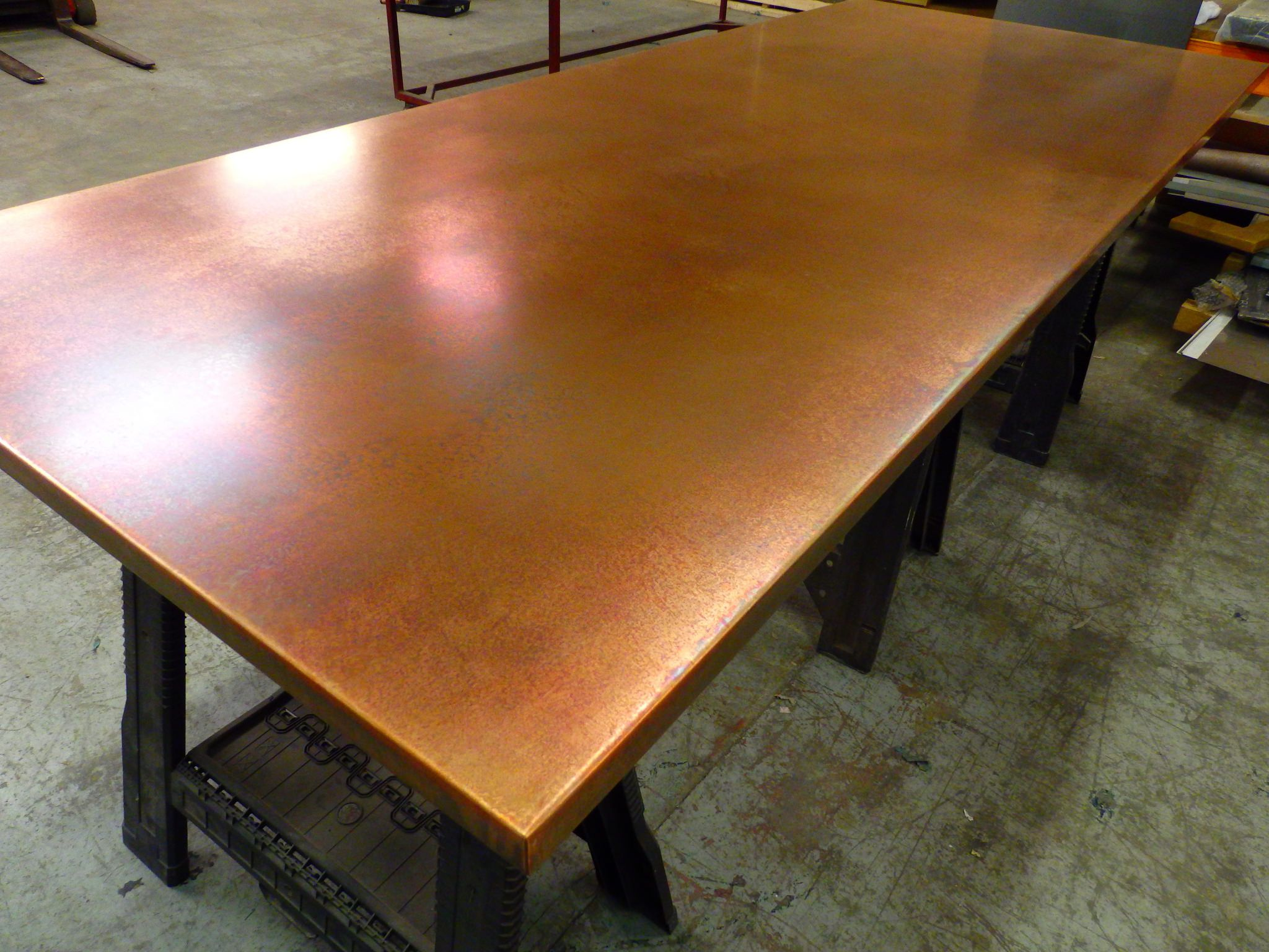 77 Large Bronze Copper Table Top Copper Top Table Dining