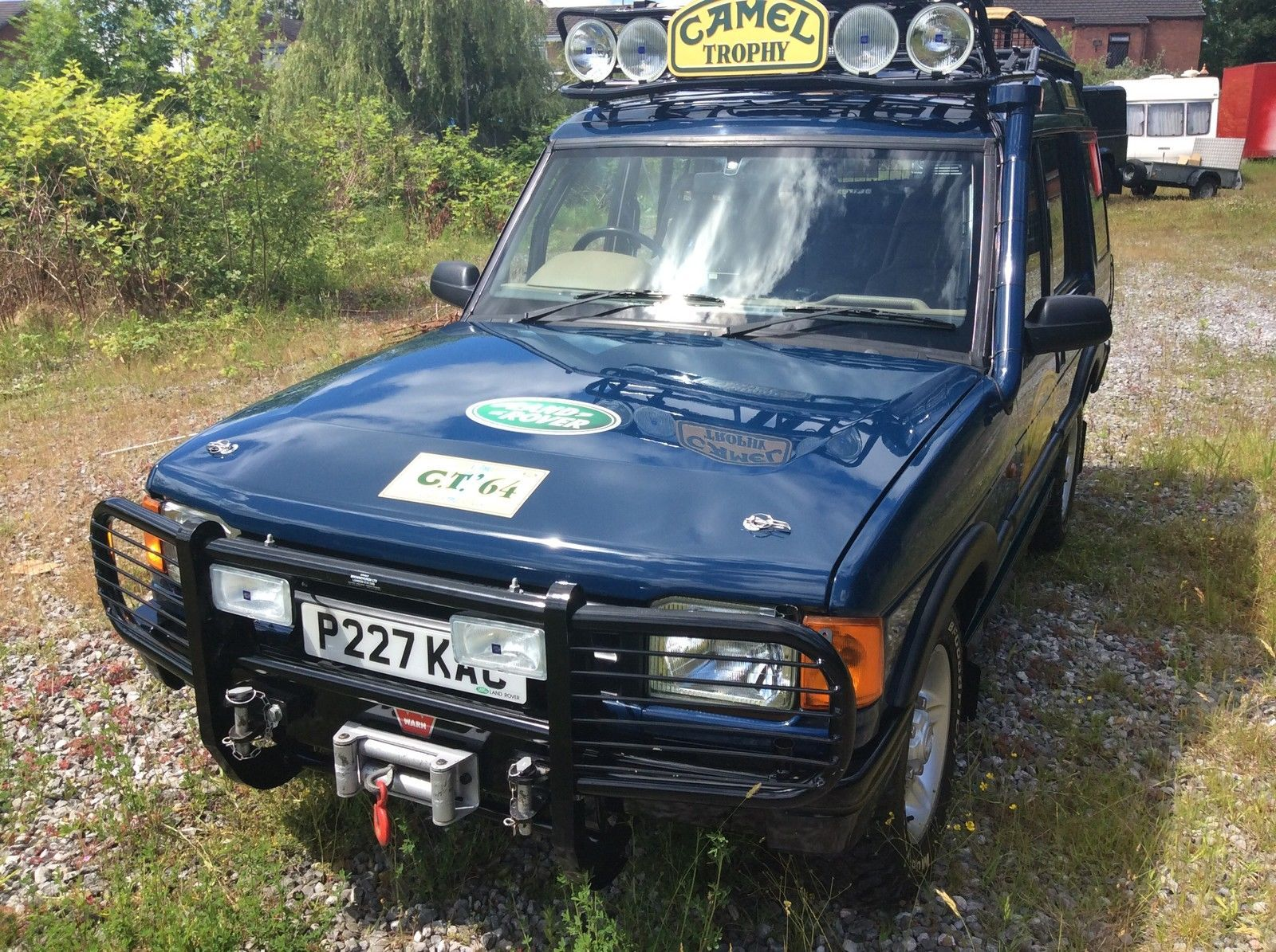 96 genuine camel trophy landrover discovery expedition vehicle winch roll cage for sale in uk