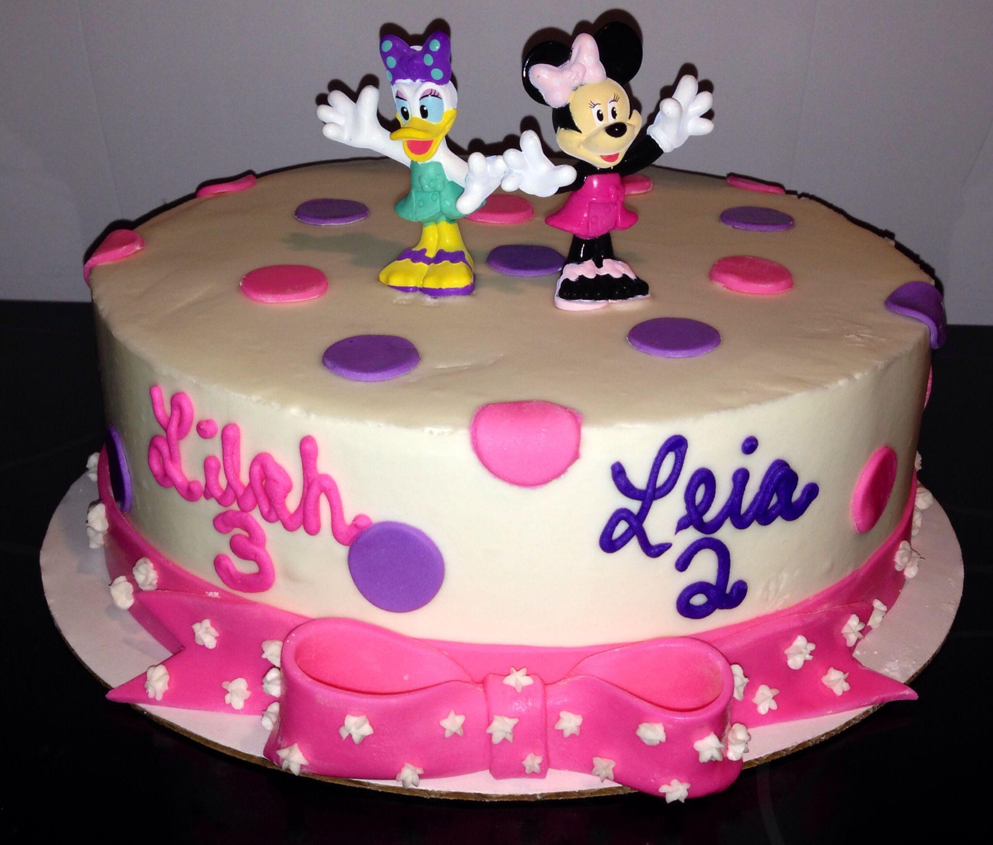 Amazing Minnie And Daisy Cake Daisy Cakes Green Wedding Cake Cake Personalised Birthday Cards Vishlily Jamesorg