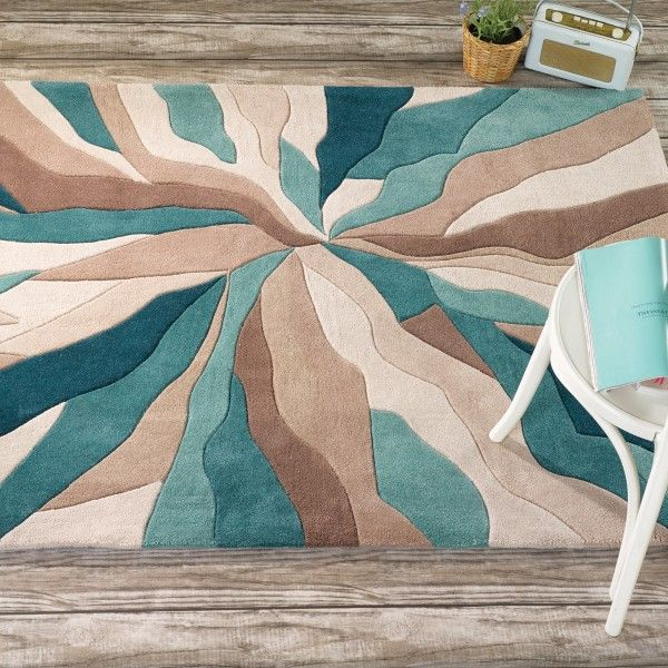 tapis design infinite bleu canard par flair rugs tapis modernes tapis et coco. Black Bedroom Furniture Sets. Home Design Ideas