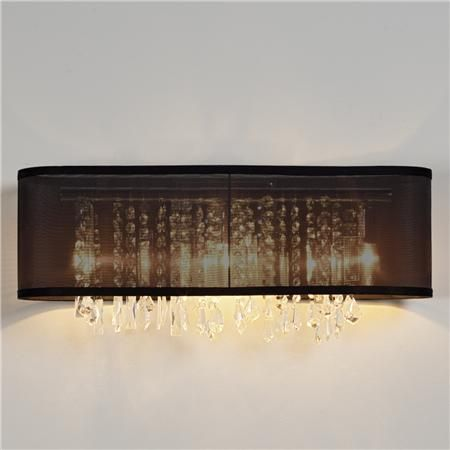Sheer shade in black or white with crystals and light bar for the organza and crystal bath light 3 lt black organza aloadofball Image collections