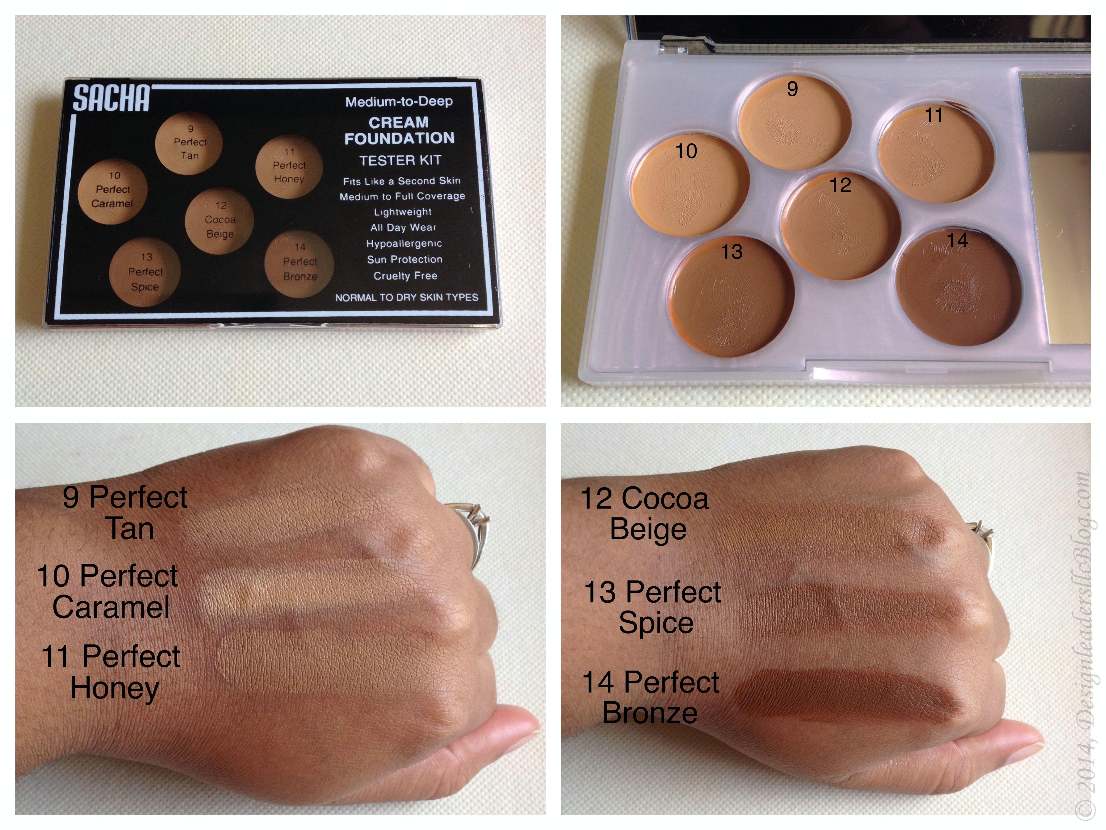 Sacha Cosmetics Cream Foundation Tester Kit (for tan