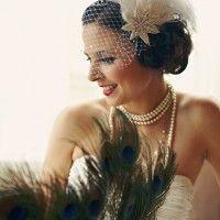 Art Deco Wedding Theme I http://verdigrisvenuedressing.co.uk I Gold I Black I Decorations I Great Gatsby I Birdcage facinator