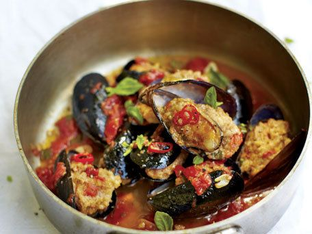 Mussels Stuffed with Mortadella