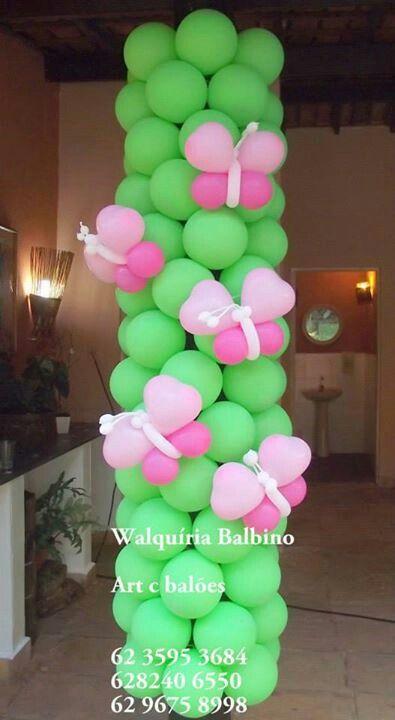 Column With Butterflies Balloon Art Ballon Decorations