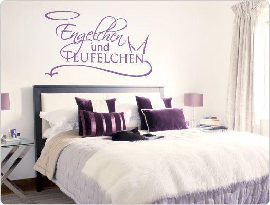 Wandtattoo Engelchen und Teufelchen improvements Pinterest - wandtattoo schlafzimmer sprüche
