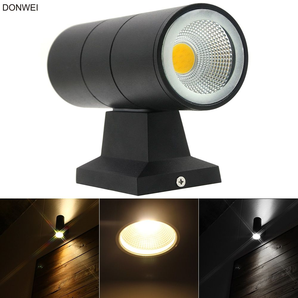10W Modern Up Down Exterior LED Wall Light Dual Head Outdoor Sconce Lamp Fixture