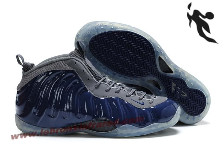 huge selection of 868cd 78ea8 Nike Air Foamposite One Penny Hardaway Shoes Grey Blue Release