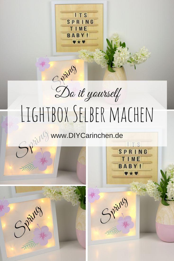 wohnideen dekoration do it yourself, diy lightbox / lichterbox ganz einfach selbermachen - immer eine, Design ideen