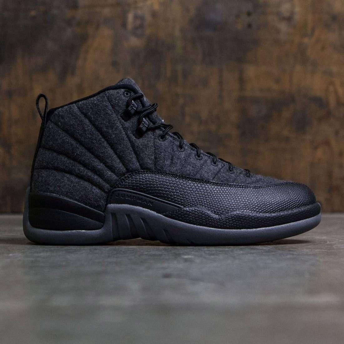 01aa671ce662 Jordan Men Air Jordan 12 Retro Wool (dark grey   metallic silver-black)
