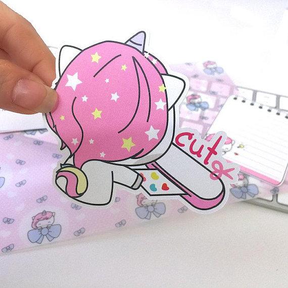 A292 die cut planner stickers girl boss planner stickers kawaii stickers