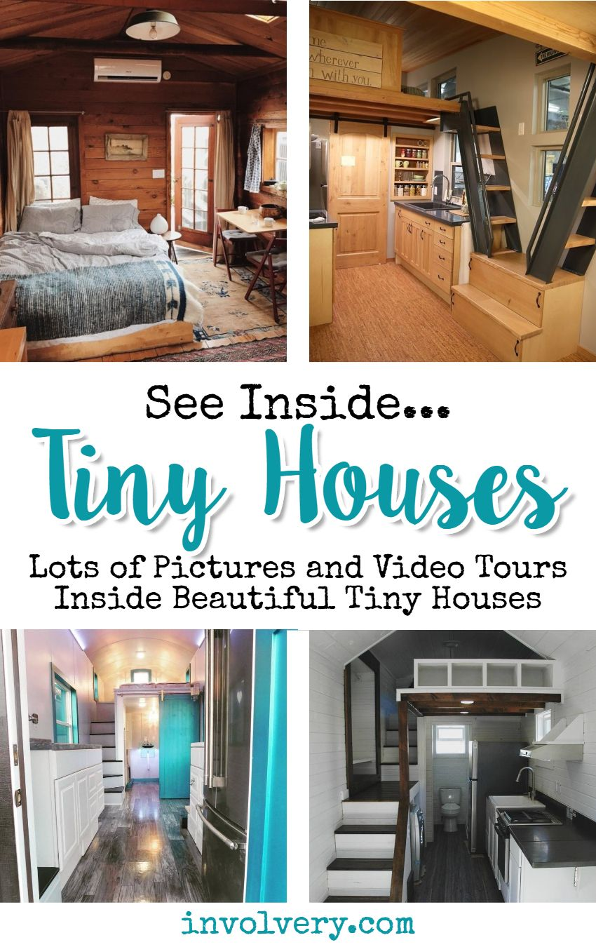See Inside Tiny Houses House Plans Bathroom Living Room Kitchen Bedroom And Storage Interior Ideaore