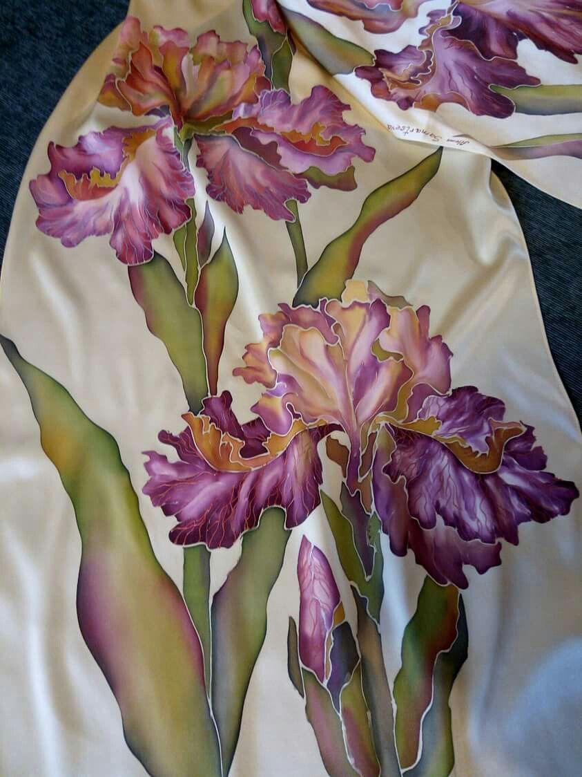 Beautiful Irisis Silk Painting Pinterest Silk Painting Silk