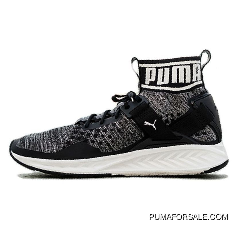 Top Deals Puma Ignite EvoKnit Black White 18969709