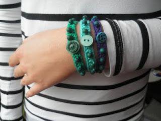 Crochet beaded braceletv
