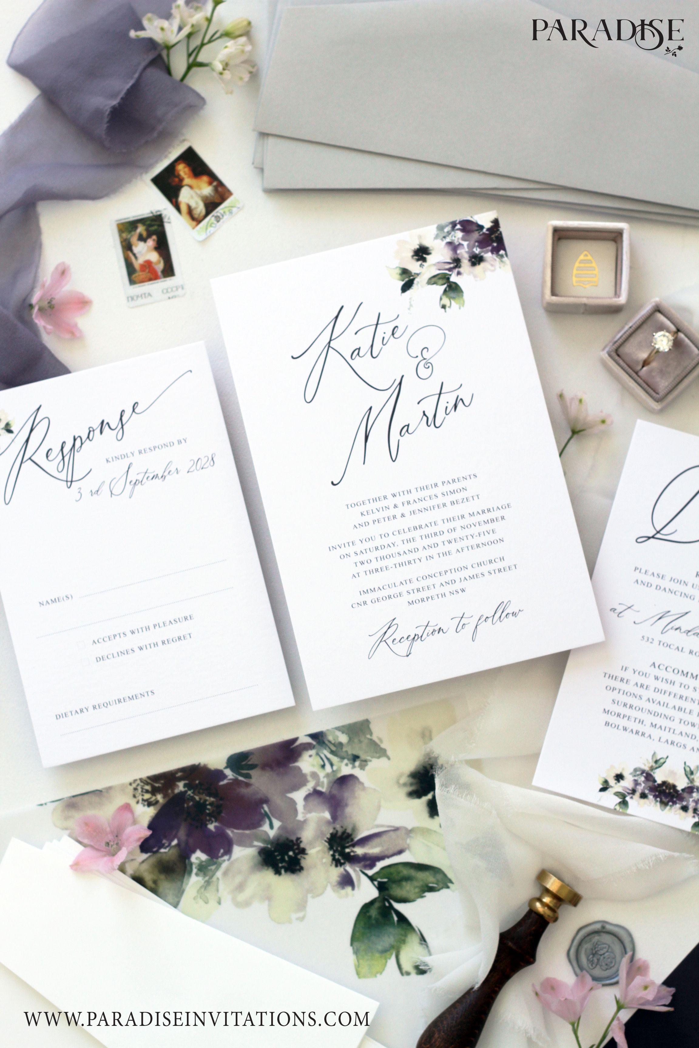 Watercolor Floral Wedding Invitation Wedding Invitation Weddinginvitation Wedd Classy Wedding Invitations Floral Wedding Stationery Fun Wedding Invitations