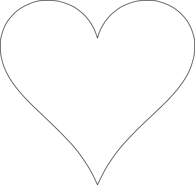 picture about Printable Heart Stencils named Print Out This sort of 6 Adorable and Free of charge Center Templates Spring