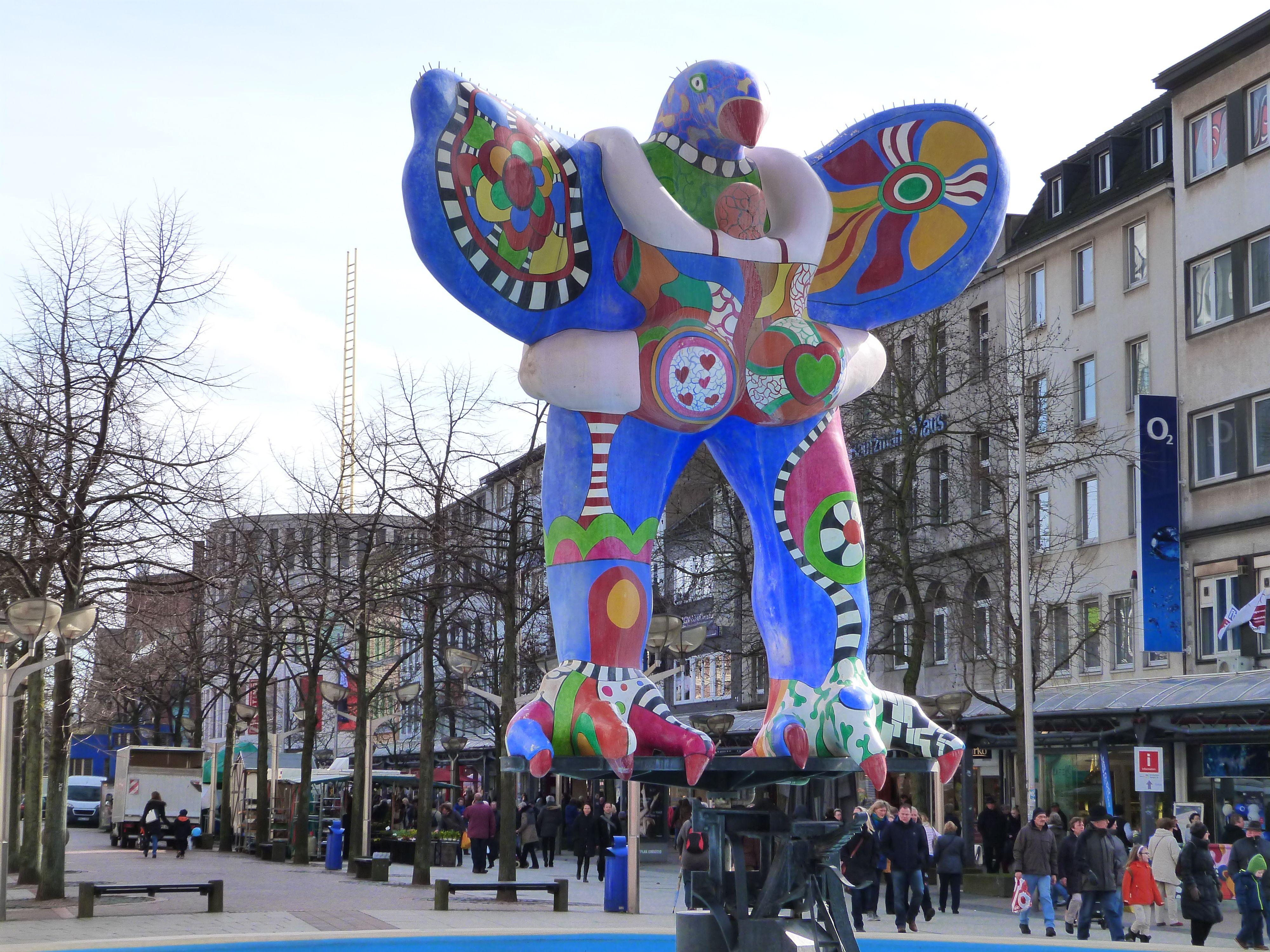 Duisburg city centre bird statue references Pinterest Bird