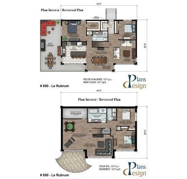 850 - Le Rubrum Bungalow Chalet Maison secondaire Plain pied   Plans ...