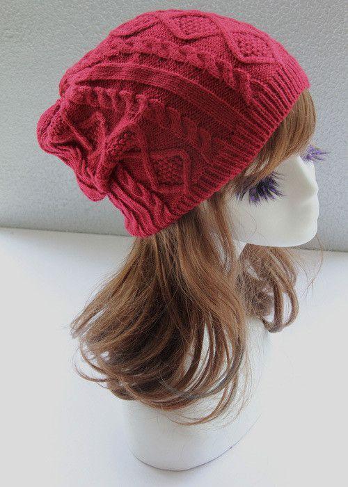 d9939eb3b3f0f Brand Fashion Winter Hat Men Beanie Knitted Casual Caps skullies bone Twist  Hats For Women Chapeu Feminine Gorro Touca Cap