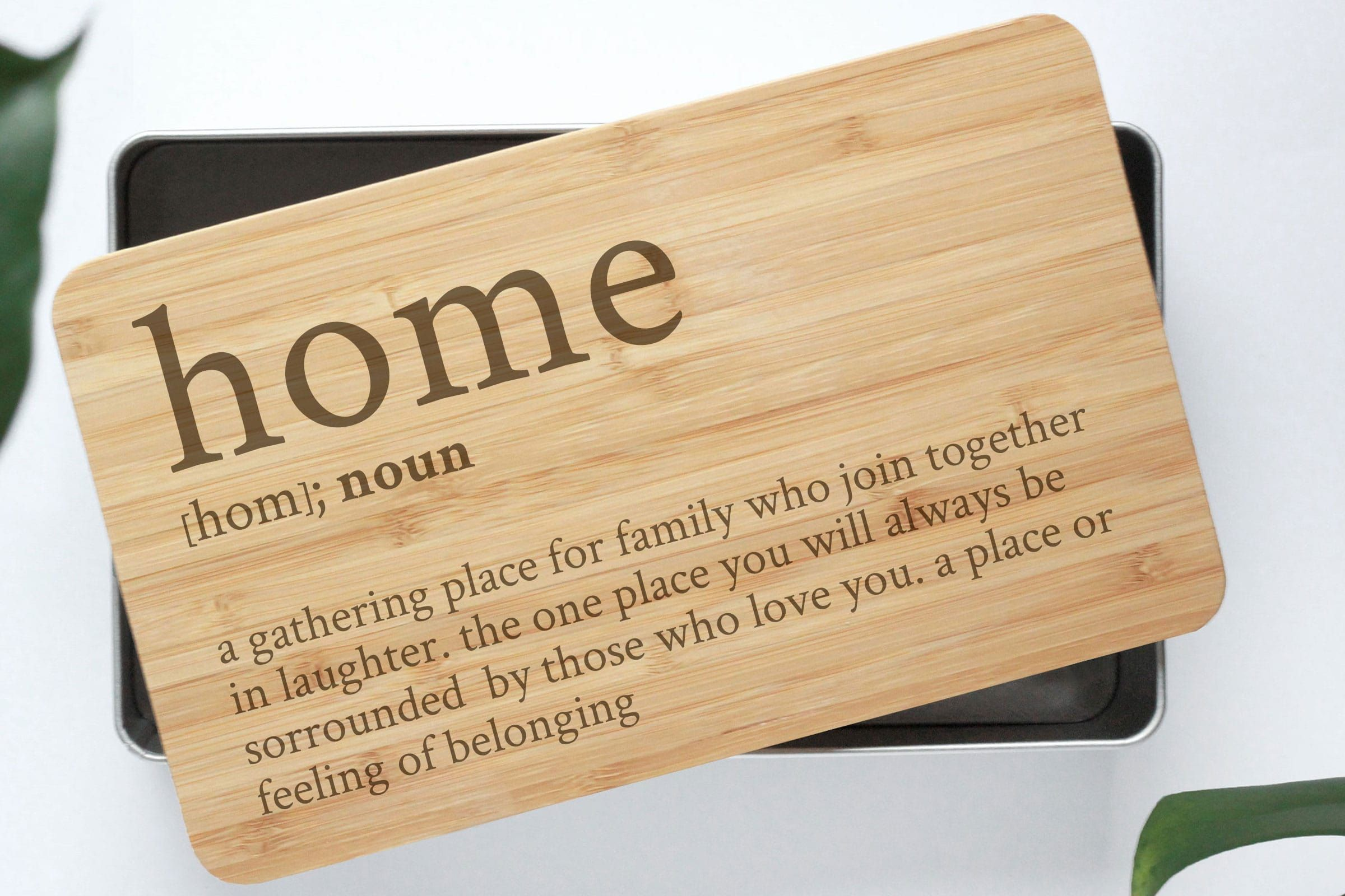 Definition Home Gebackdose Mit Bambusdeckel Tin Gifts Bamboo Hygge