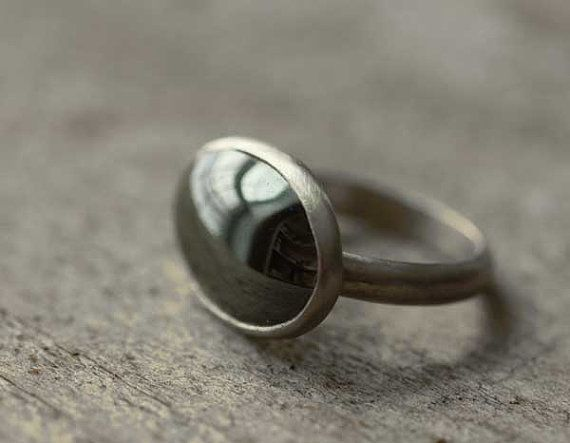 SilverGrey Shiny Hematite Sterling Ring by leChienNoirJewelry, $59.00