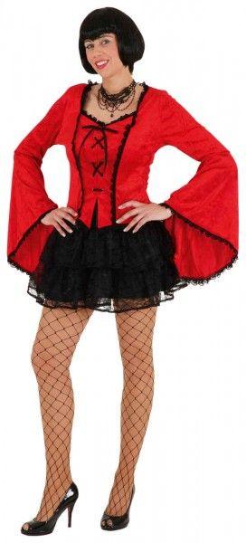 Gothic Dress rot Halloween + Hexen + Teufel Vampire Verkleidungen