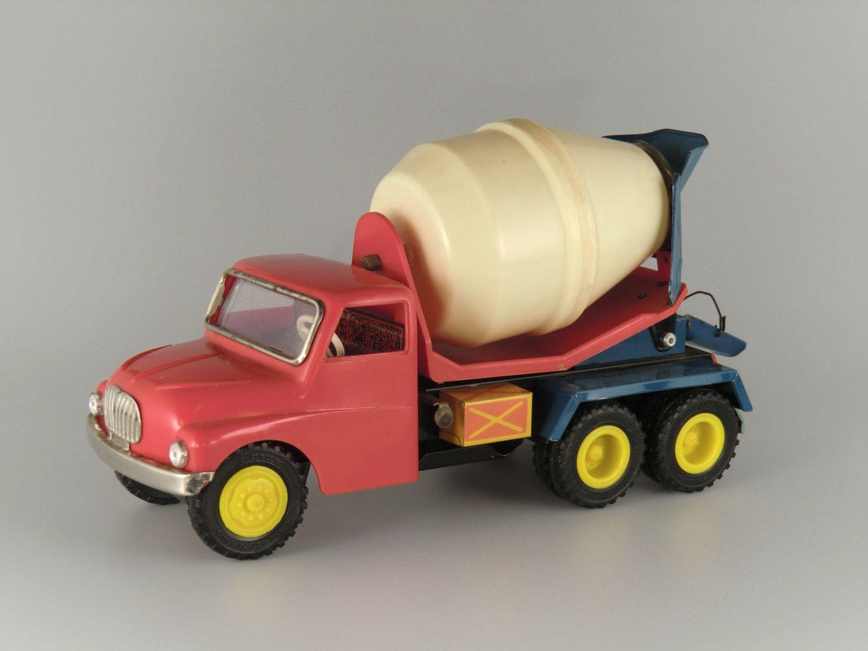 Czechoslovakia KDN Tatra 138 Cement Mixer Car Plastic/Metal Toy by VintageRetroEu on Etsy