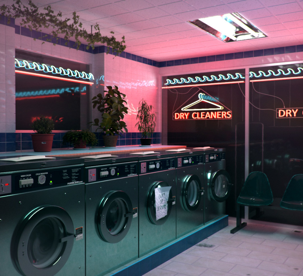 Artstation Laundromat Filipe Freire Laundry Shop Laundromat Laundry Mat