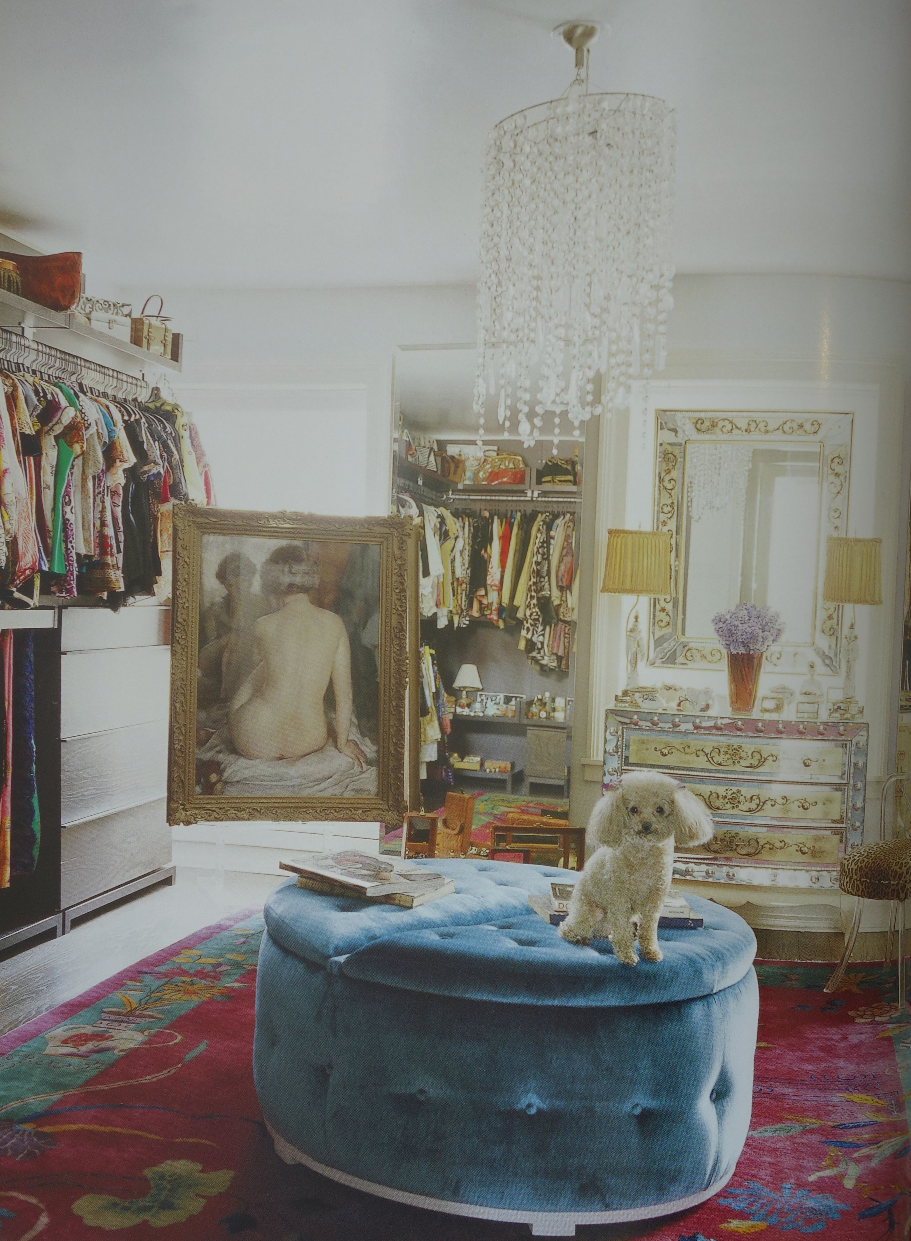 A fashionable manhattan dressing room with its chinese