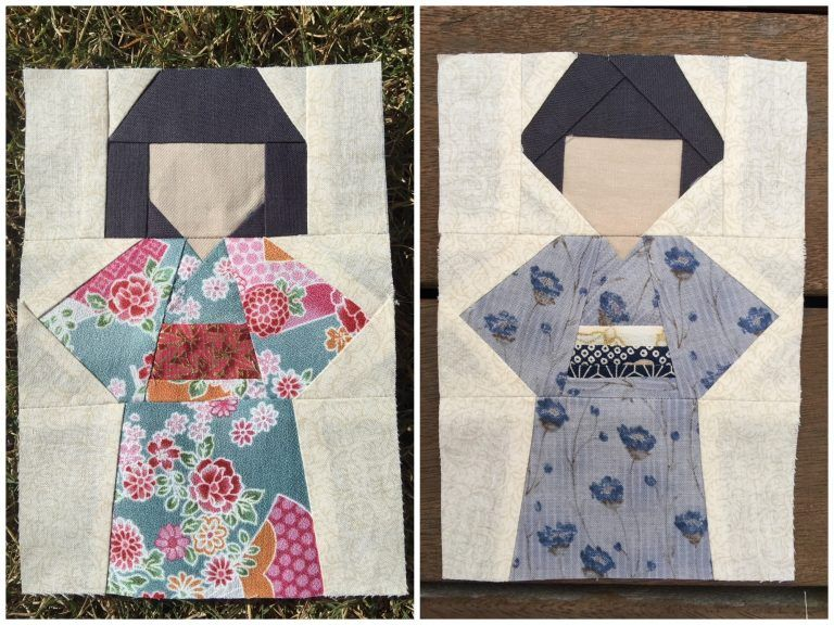 Kokeshi Doll Quilt Block Pattern Japanese Quilt Patterns