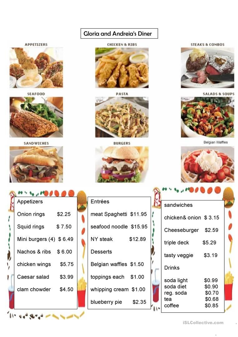 Pin on esl vocabulary pinterest restaurant restaurant menu forumfinder Choice Image