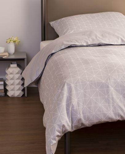 Schöner Wohnen Grid Grau Bettwäsche Set 100 Baumwoll Mako Satin