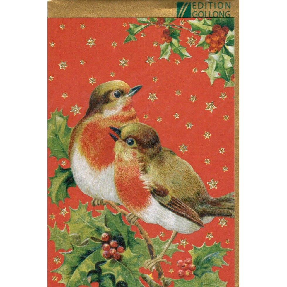 Deux Oiseaux, Noël, Carte de Souhait, Idée Cadeau, lideecadeauweb