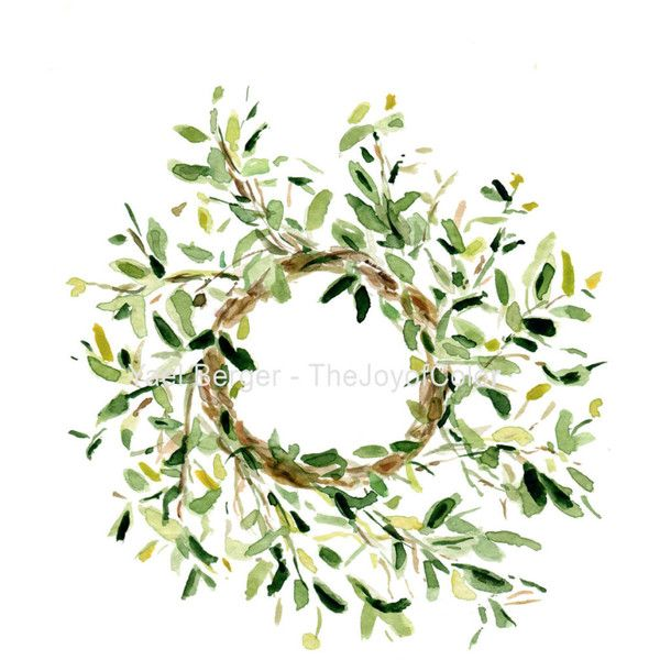art print Mistletoe wreath. wreath watercolor print Christmas decor... (460 MXN) ❤ liked on Polyvore featuring home, home decor, christmas, green wreath, mistletoe wreath, green home decor and green home accessories