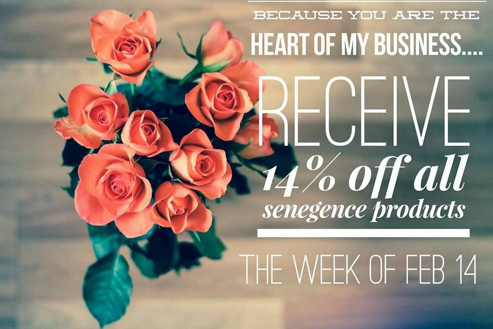 All products are on sale for you!! Happy Valentine's Day!!