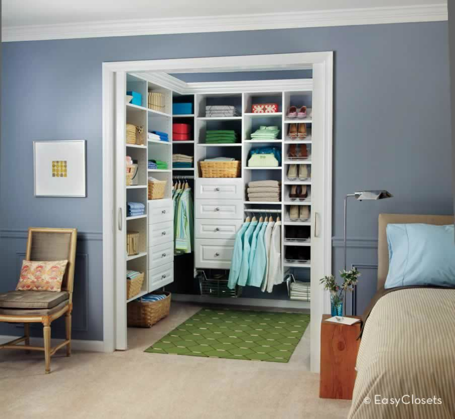 Have Bryan Take Off The Closet Door And Build Shelving
