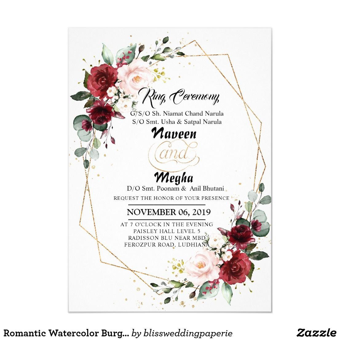 A Little Floral Little Colorful Follow The Trend Of Whatsappweddinginvite Make Your Bi In 2020 Indian Wedding Invitations Invitations Wedding Invitation Cards