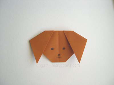 Photo of Origami Dog Face Folding Instructions – How to Make an Origami Dog Face