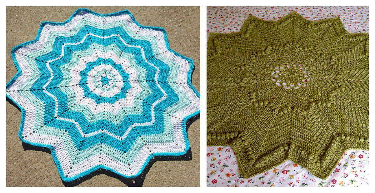 Round Ripple Afghans Are Unique In Many Ways Here Are A Couple Of