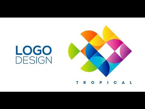 professional logo design adobe illustrator cs6 tropical