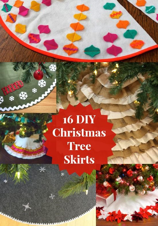 16 Ways To Make A Christmas Tree Skirt Christmas Christmas Diy Diy Christmas Tree