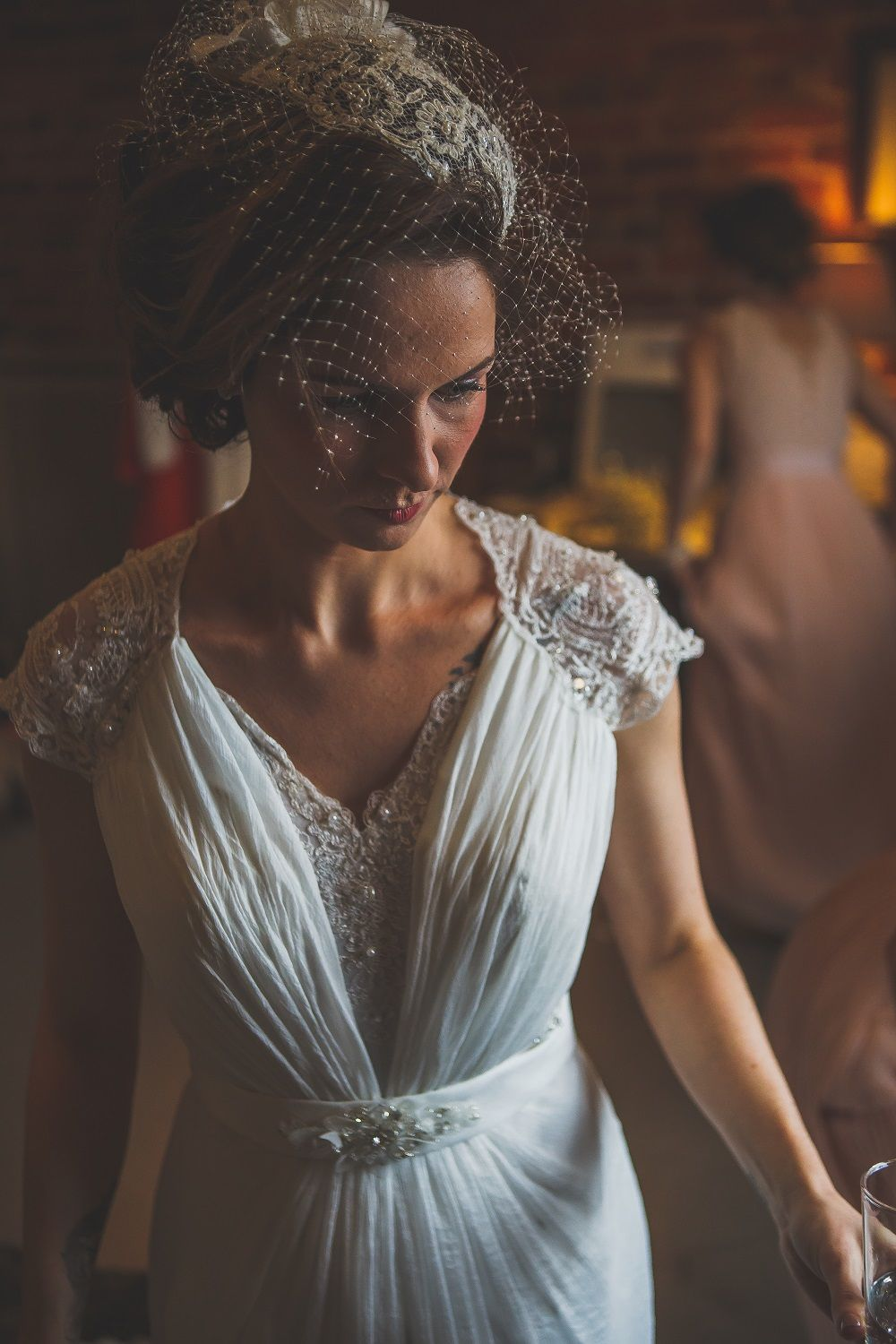 A Timeless Elegance bridal gown for a wedding at The Curradine Barns ...