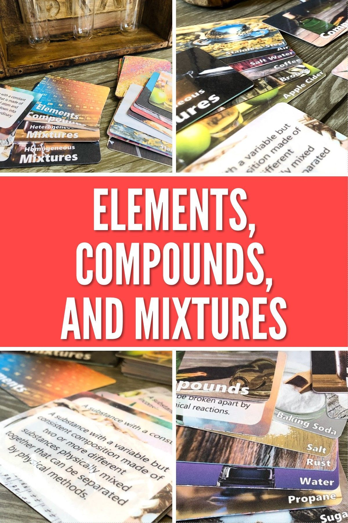 Classifying Matter Card Sort Activity Elements Compounds