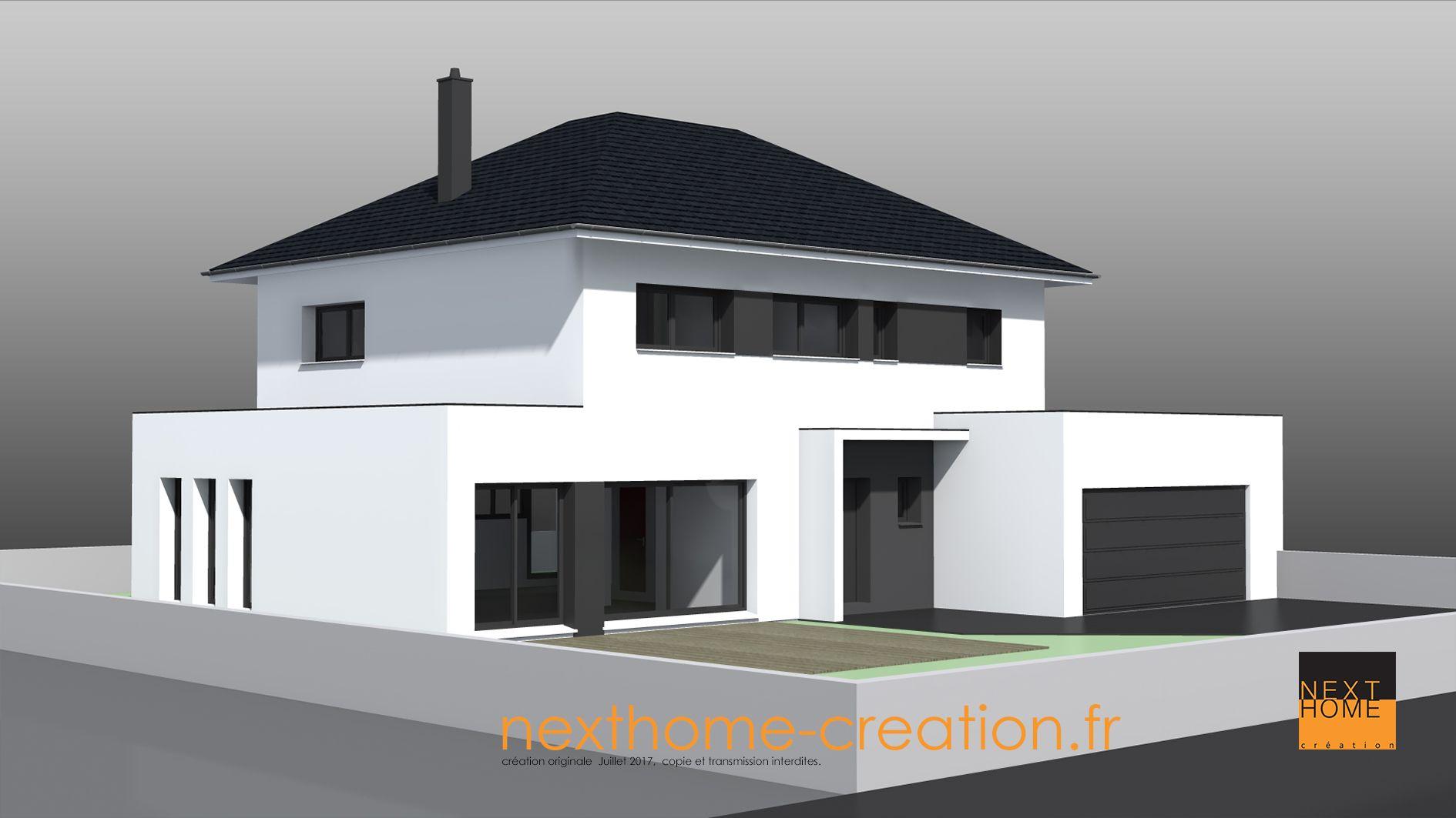 Maison 4 Pans Plan De Maison Cubique Maison Modele Maison Contemporaine